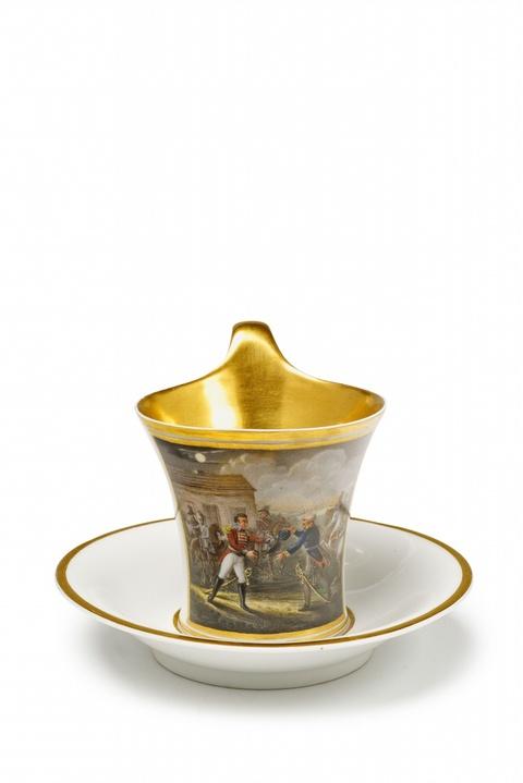 Tasse mit Motiv aus dem Leben des Duke of Wellington -