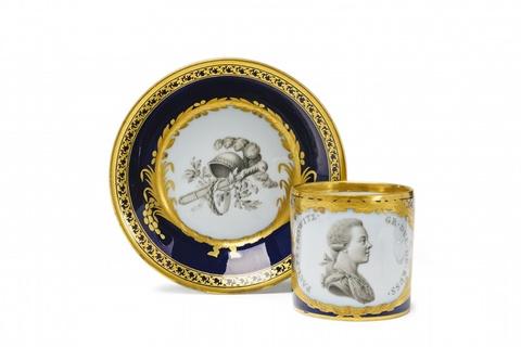 Tasse mit Bildnis des Großfürsten Paul Petrowitz -