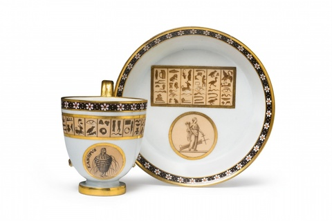 A Sorgenthal porcelain cup in the Egyptian taste -