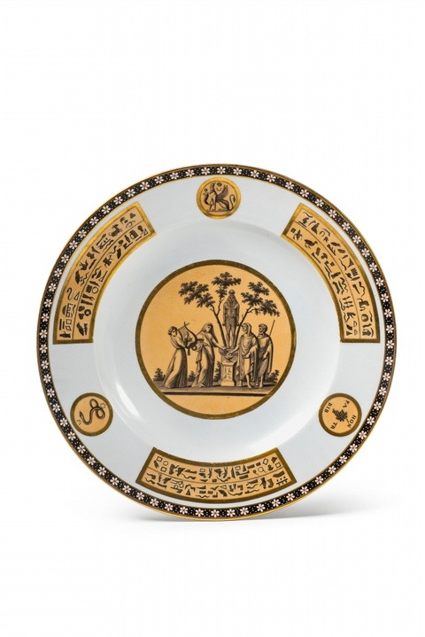 A Sorgenthal porcelain plate in the Egyptian taste -
