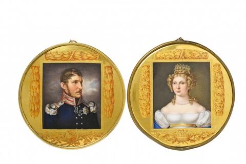 Paar Plaketten mit den Bildnissen von König Friedrich Wilhelm III. und Königin Luise -