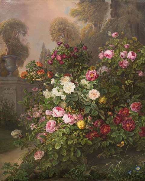 Floral Painting, The Rose Garden -