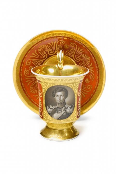 Tasse mit Bildnis Kronprinz Friedrich Wilhelm -