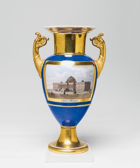 """Vase mit Ansicht """"Capitol zu Washington."""" -"""