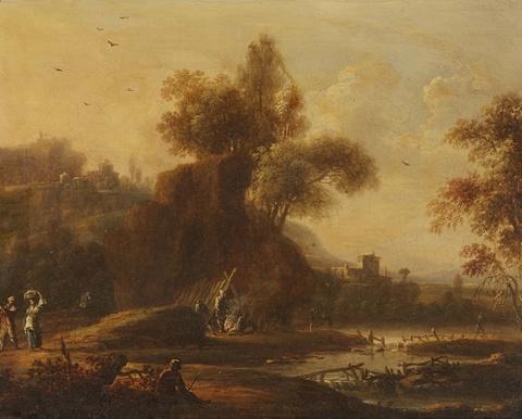 Johann Alexander Thiele - Landschaft an einem Fluss