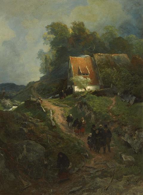 Andreas Achenbach - Westfälische Landschaft