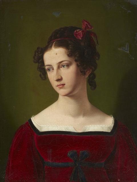 Deutscher Künstler der 1. Hälfte des 19. Jahrhunderts - Bildnis einer jungen Dame