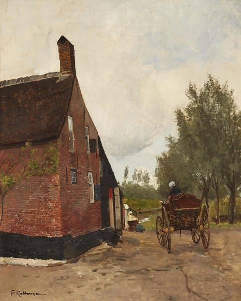 Friedrich Kallmorgen - Holländisches Bauernhaus