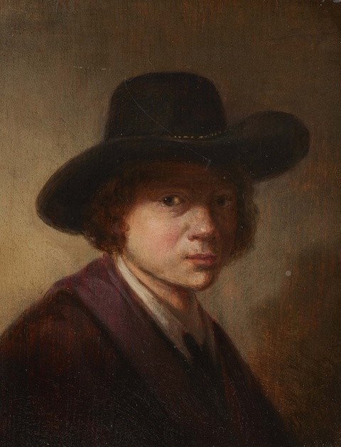 Netherlandish School 17th century - Portrait of a Young Man in a Hat