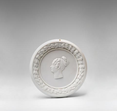 A Berlin KPM porcelain tondo with a portrait of Crown Princess Elisabeth Ludovika -