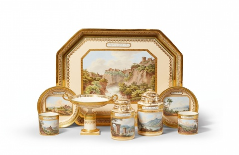A Vienna porcelain déjeuner with views of Italy -
