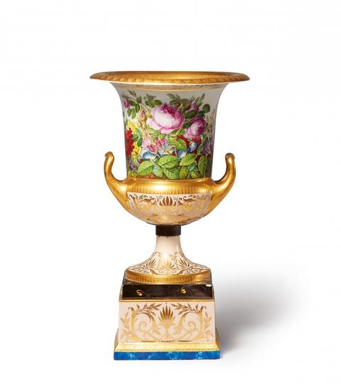 Redensche Vase mit fleurs en terrasse -