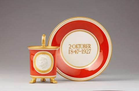 Tasse zum 80. Geburtstag von Paul von Hindenburg -