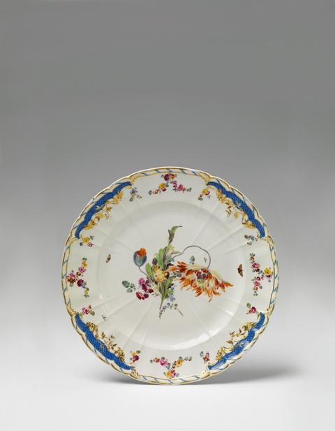 Seltener Teller für das Breslauer Stadtschloss -