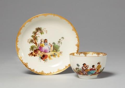 Tasse mit Szenen nach Teniers -