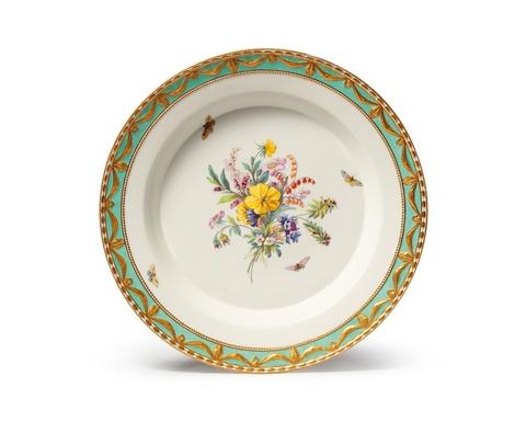Große runde Platte aus einem Tafelservice für Prinz Heinrich von Preußen -