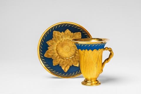 Tasse in Form einer Lotusblume -