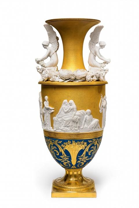 Vase mit Aldobrandinischer Hochzeit, sog. Nuptialvase aus dem Service vom Eisernen Helm -