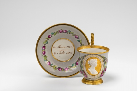 A Berlin KPM porcelain cup with Queen Louise -