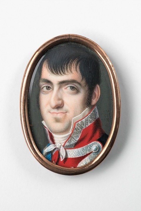 A portrait miniature of Ferdinand VII of Spain -