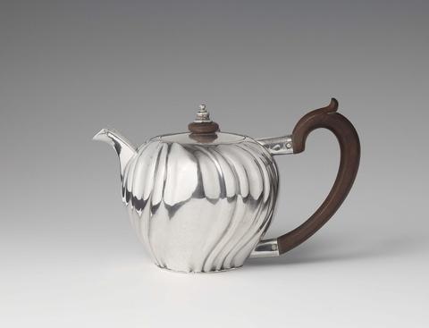 An Augsburg silver teapot -
