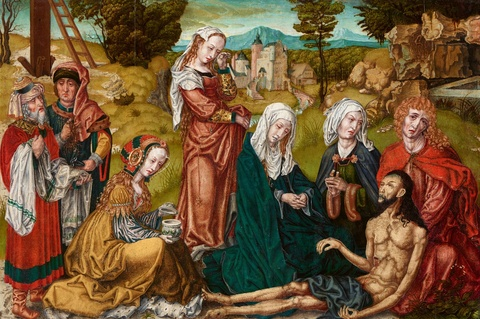 Cologne School circa 1520/25 - The Lamentation of Christ
