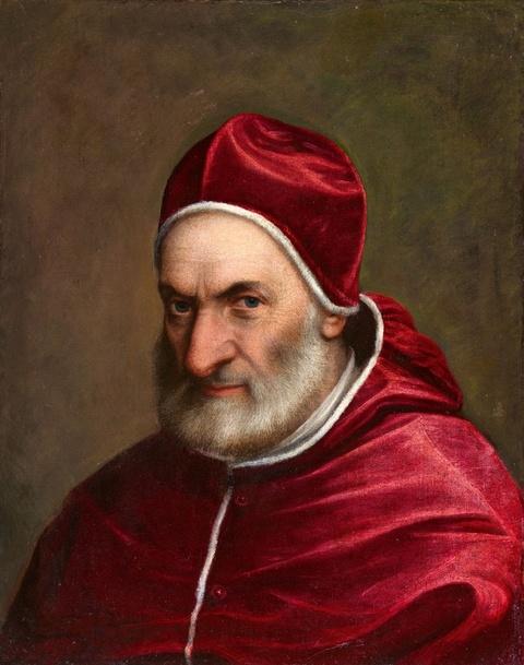 Italienischer Meister um 1600 - Bildnis Papst Pius´ IV.