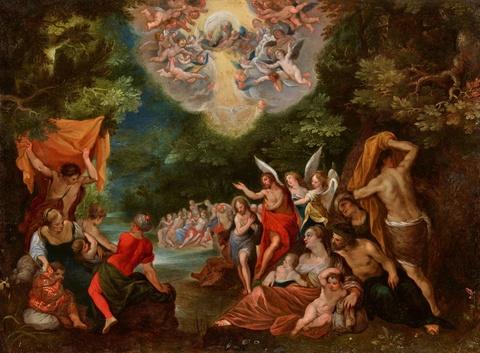 Jan Brueghel d. J. - Taufe Christi