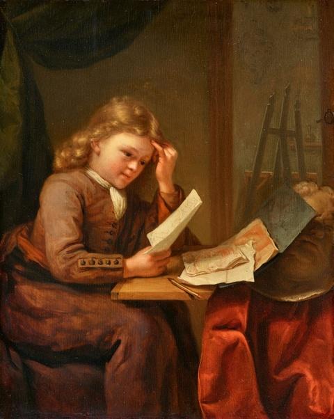 Godefridus Schalcken - Der junge Zeichner an einem Tisch