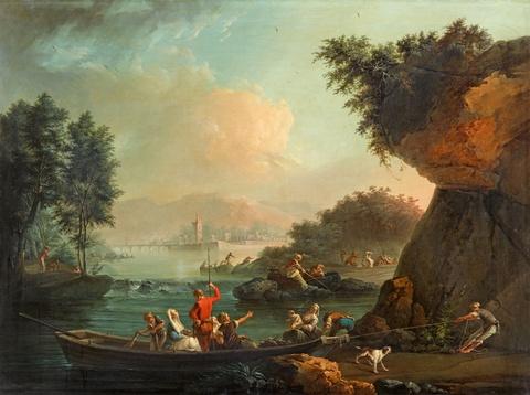 Claude-Joseph Vernet - Küstenlandschaft am Nachmittag - aus einer Serie von vier Tageszeiten