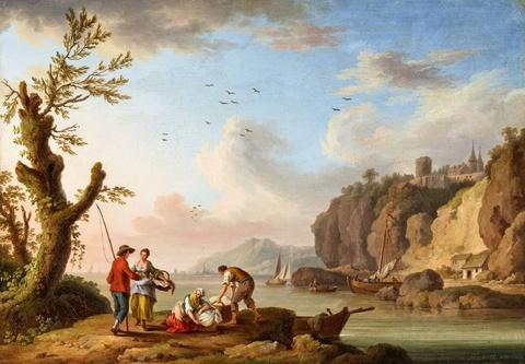 Jacob Philipp Hackert - Blick auf die Seine bei Caudebec-en-Caux