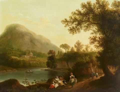 Jacob Philipp Hackert - Der Fiume Incastro mit Ariccia im Hintergrund
