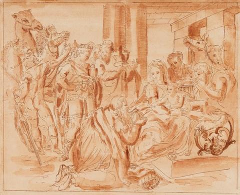 Venetian School 18th century - The Adoration of the Magi