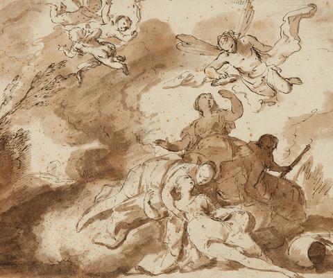 Französischer Meister des frühen 18. Jahrhunderts - Der Tod der Dido