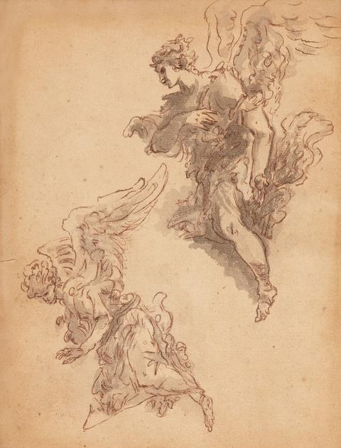 Venetian School 18th century - Study of Two Angels