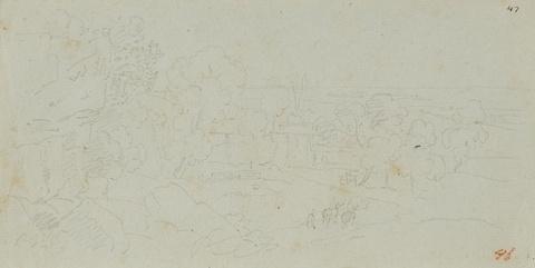 Karl Friedrich Schinkel - Blick auf Syrakus mit dem Landhaus des englischen Konsuls G. F. Leckie in Tremiglia