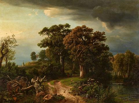 Johann Wilhelm Schirmer - Woodland Path