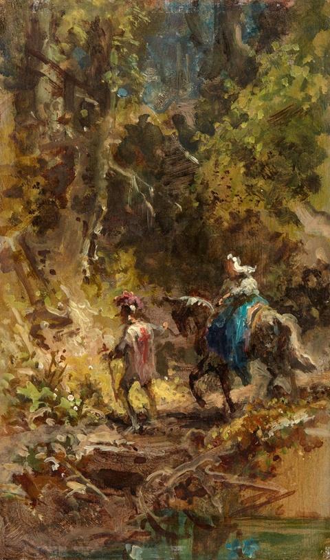 Carl Spitzweg - Flucht der Heiligen Maria