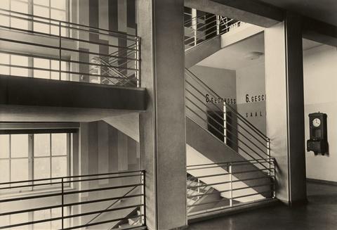 Hein Gorny - Staircase of ROGO stocking factory, Oberlungwitz