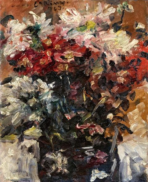 Lovis Corinth - Blumen in Vase