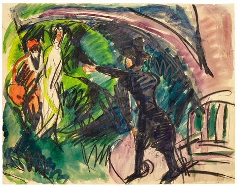 Ernst Ludwig Kirchner - Pantomime Reimann I