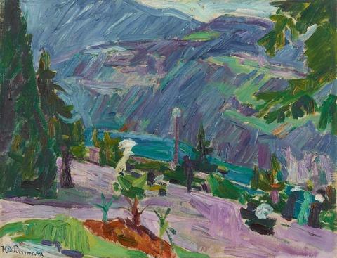 Hans Purrmann - Landschaft mit Promenade