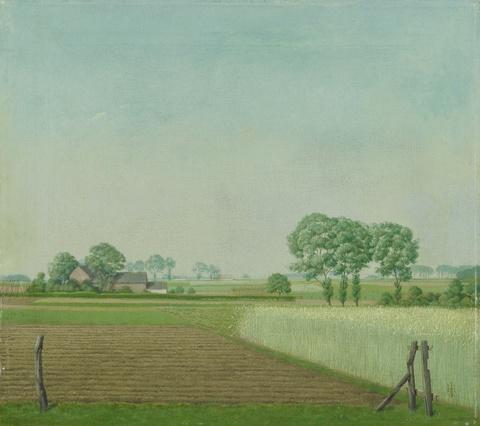 Herbert Böttger - Getreidefeld (Landschaft mit Gehöft)