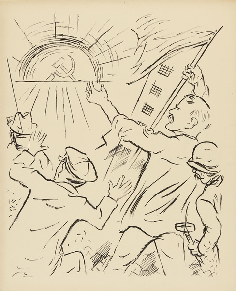 George Grosz - 1917 (Revolution in Russia)