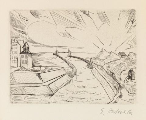 Erich Heckel - Hafeneinfahrt in Ostende