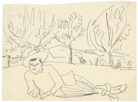 Ernst Ludwig Kirchner - Liegender junger Mann