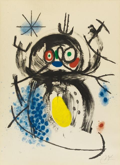 Joan Miró - L'automobiliste à moustaches