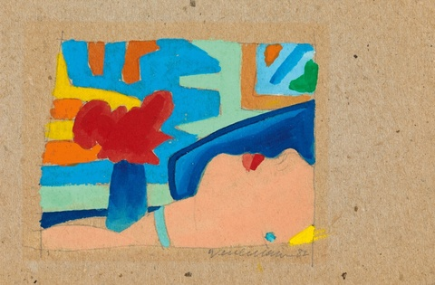Tom Wesselmann - Study for face with bad abstract painting