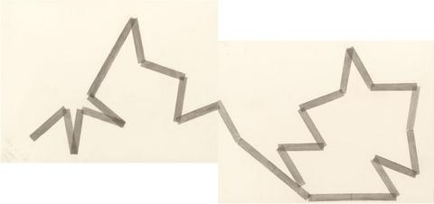 François Morellet - pi twin n°6, 1=20°