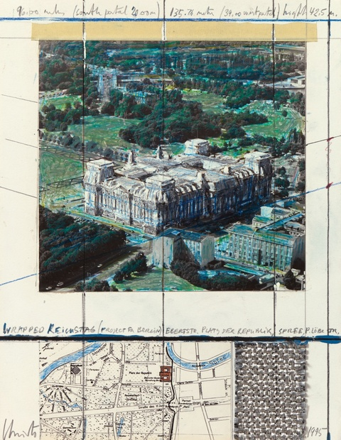 Christo - Wrapped Reichstag (Project for Berlin)